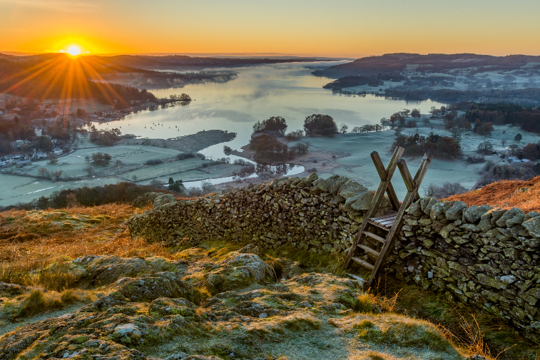 Lake District Winter Sunrise Christmas