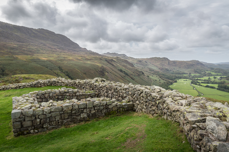 lake district history, hardknott roman fort